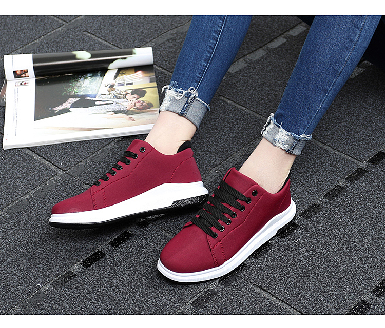 Stretch Fabric Casual Shoes Woman 2017 Fashion Spring Lace Up Ladies Shoes Breathable Women\'s Vulcanize Shoes Superstars ZD68 (26)