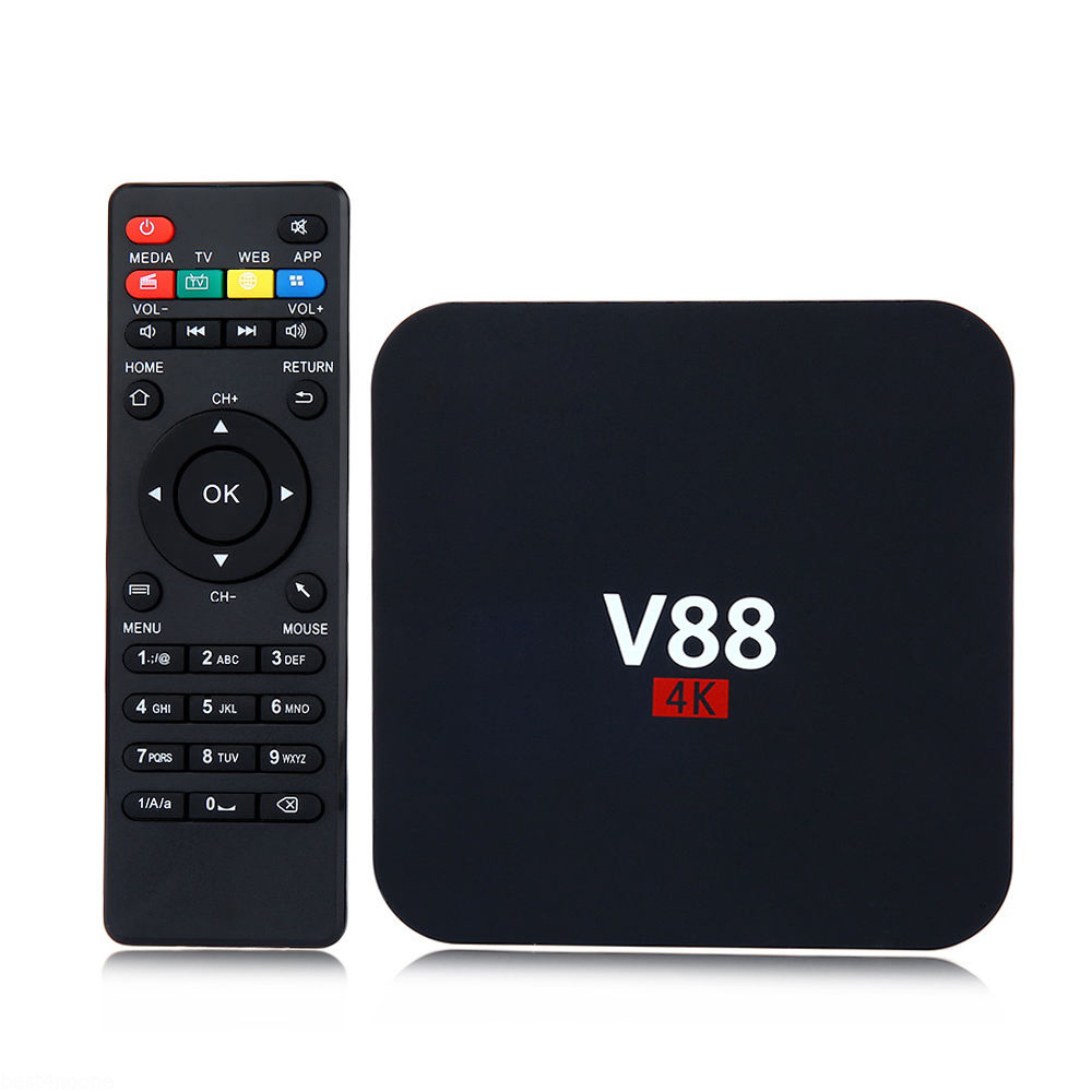 SIFREE V88 CAJA 4 K Android 6.0 Smart TV Box Rockchip 3229 1G/8G 4 USB WiFi Repr