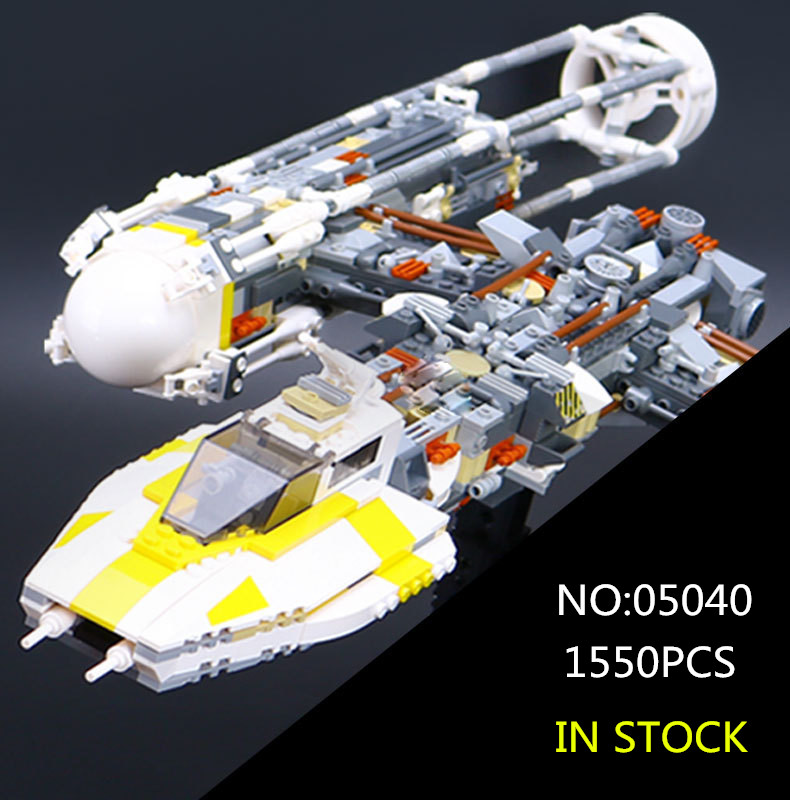 05040 Star Series Wars Y Star wing Attack fighter Building Assembled Block Brick DIY Toy Educational Gift Compatible 10134 lepin 05040 y attack starfighter wing building block assembled brick star series war toys compatible with 10134 educational gift