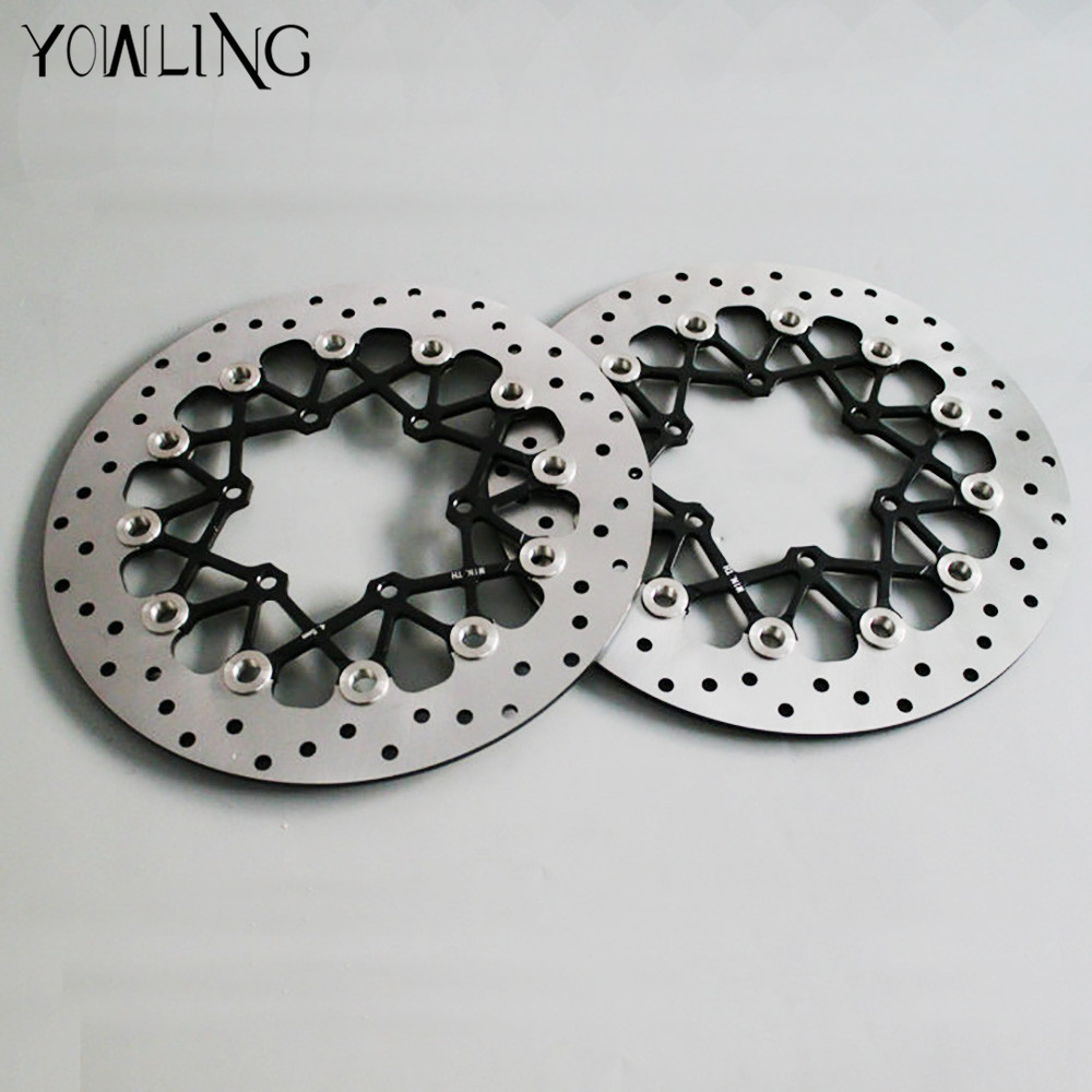 motorcycle Parts Accessories Front Floating Brake Discs Rotor for SUZUKI GSXR1000 K9 09-15 GSXR600/750 2011 2012 2013 2014 2015 starpad for lifan motorcycle lf150 10s kpr150 new front brake discs accessories
