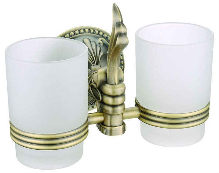 Free shipping brass Antique Bronze double tumbler holder cup&tumbler holders tumbler brush holder bathroom accessory AB001b free shipping brass antique bronze double tumbler holder cup