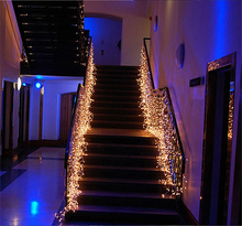 Kmashi Connector 5Mx(0.4 0.5 0.6)M LED Curtain Icicle String Lights LED Fairy Lights Christmas Lamp Icicle Lights Home Party EU