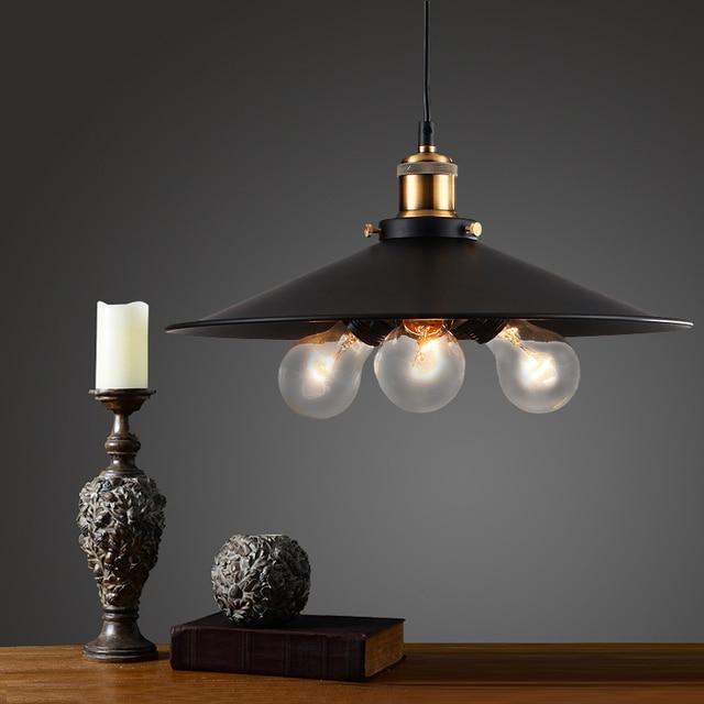 Vintage industrial lámpara colgante retro metal Colgantes bares ...