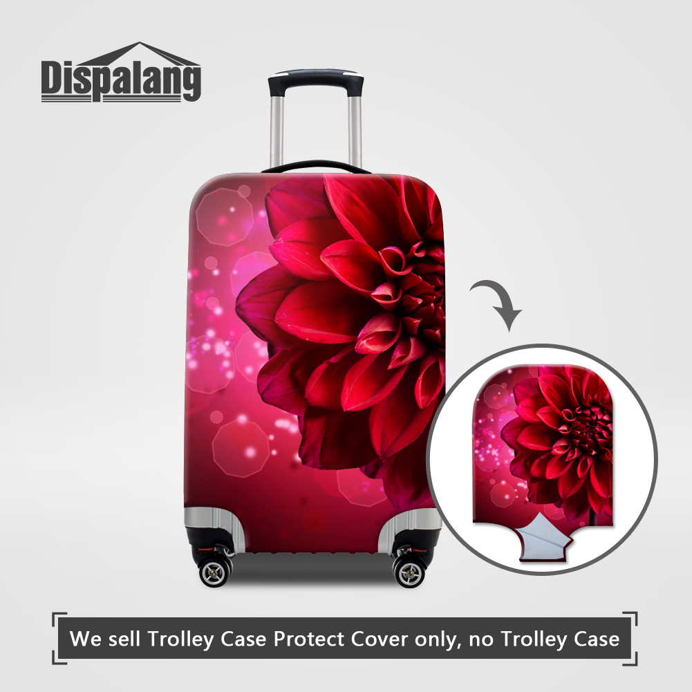 Stretch Elastic Luggage Protective Cover For 18~32 Inch Trolley Case On Suitcase Flower Ballet Women Anti-dust Dirtproof Covers