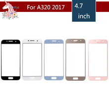 10pcs/lot For Samsung Galaxy A3 2017 A320 A320F SM-A320F A320Y Front Outer Glass Lens Touch Screen Panel Replacement цены