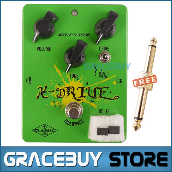 Electric Guitar Pedal True Bypass Overdrive Effect Green Custom Biyang Guitarra Pedales New hotone grass classic tube overdrive effect pedal electric guitar bass true bypass top grade fancier choice