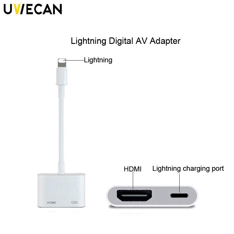 11527908e2e HDMI para HDMI Cabo Adaptador Para Apple 8Pin para HDMI Digital AV  Conversor de interface para iPad/iPhone X/ XR/XS/8 Plus/8/7 Plus/iOS 12.1