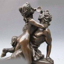 Греческий миф Пан и Обнаженная женщина напиток Чистая Бронзовая статуя