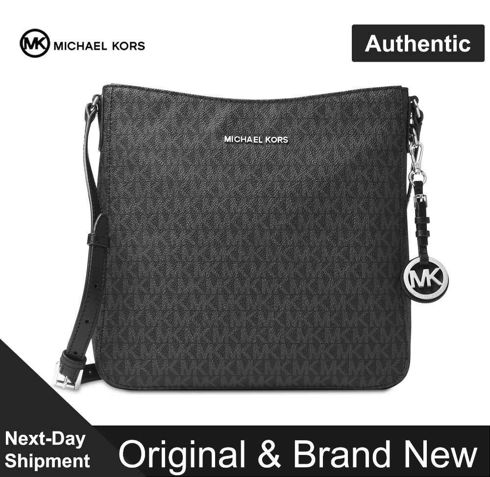de7c47440b3e Detail Feedback Questions about Michael Kors Signature Jet Set Travel  Messenger Large Luxury Handbags For Women Bags Designer by MK on Aliexpress.com  ...