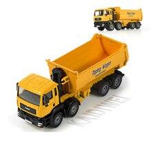KaiDiWei, из сплава инженерной модели автомобиля игрушки все 1:50 Самосвал восемь колеса грузовика игрушка модель детские игрушки подарок желтый