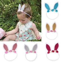 2019 Bunny Ear Headband Rabbit Costume Fancy Dress Easter Hair Accessories(China)