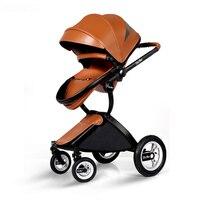 Европейский Стиль детская коляска прогулочная новорожденных Коляски Высокое качество Роскошный Зонт легкие коляски Складная детская коля