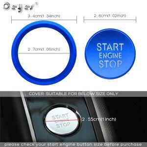 Image 4 - Ceeyes pegatinas de diseño de complemento para el coche, funda con botón de arranque y parada de motor para Audi A6 B8 A6L Q5 8R A4 C7 B9 A7 BT 2018