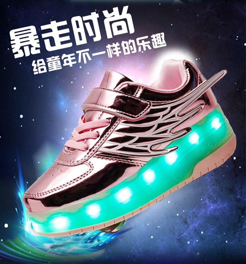com rodas sobre led luz esportes roller
