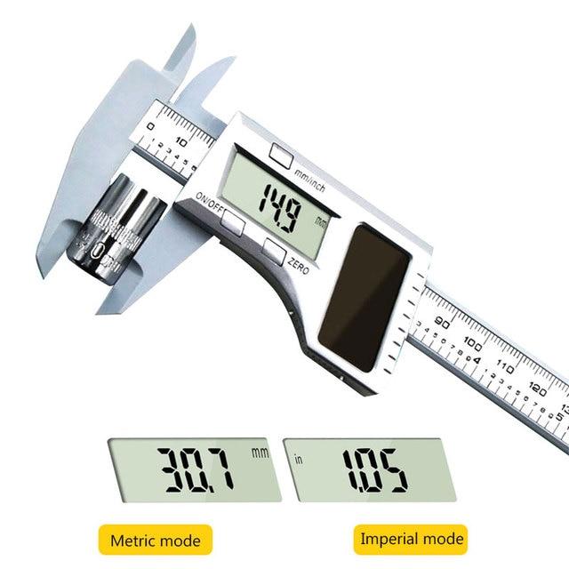 Прочный штангенциркуль весы пластик 0-150 мм 0,01 мм Серебряный слайдер Калибр инструмент Калибр измеритель циферблата части инструмента гаджет