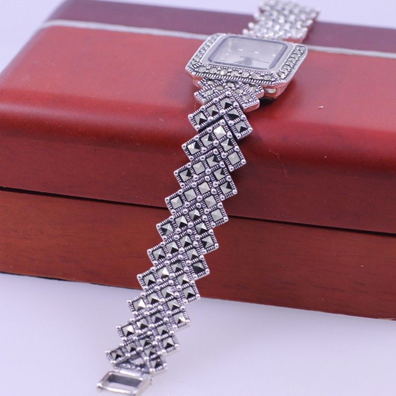 pulseira de prata pura relógios pulseira de prata real