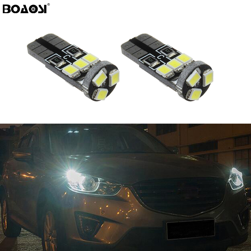 BOAOSI 2x T10 <font><b>LED</b></font> W5W Samsung Car Clearance <font><b>Light</b></font> <font><b>Bulbs</b></font> For <font><b>Mazda</b></font> 323 626 cx-5 3 <font><b>6</b></font> 8 Atenza cx7 cx-7 mx5 cx3 rx8 cx5 image