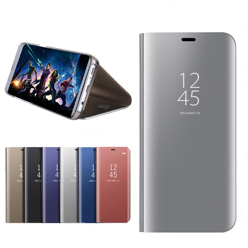 US $6 09 39% OFF|Flip Phone Case Cover For Huawei Nova 2i Case Mirror Smart  Leather Case Mate 10 Lite Casing Mate 9 Cover Fundas-in Fitted Cases from