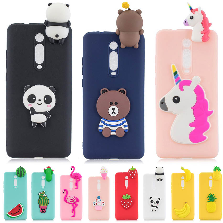Silicone Case For Xiaomi Redmi 7A Case Redmi K20 Soft TPU Cover Unicorn Bear Banana Flamingo Cute For Xiaomi Mi 9T Pro Mi9t