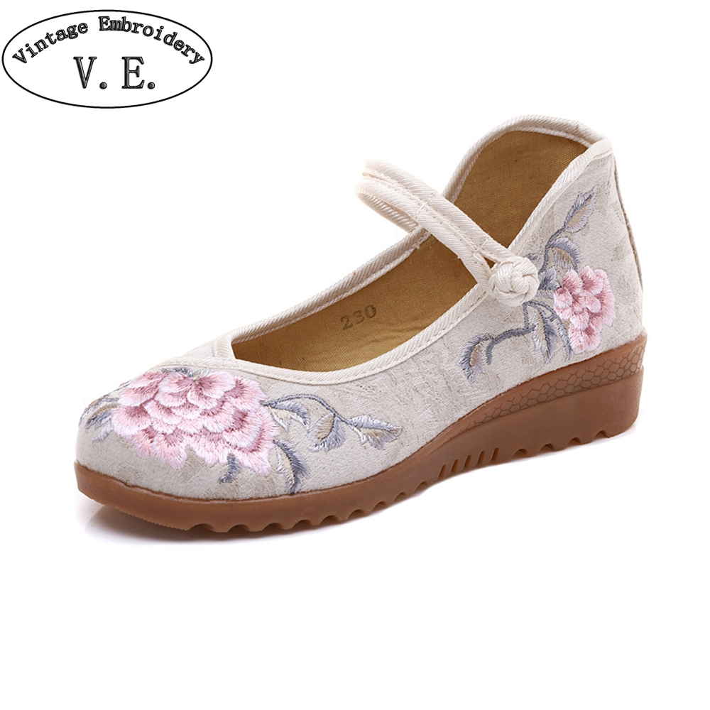 Vintage Embroidery New Arrivals Flats Shoes Women Soft Sole Canvas Shoes For Lady Ballet Dancing Traveling Walking Woman Shoes bts shoes women canvas flat shoes 2016 new arrivals kpop bts all members ladies flats free shipping