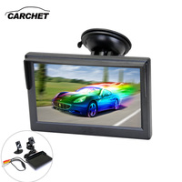 CARCHET 5 inch TFT Car LCD Rear View Monitor Reverse Backup Parking For VCD DVD Camera Rearview Monitor Auto Accessories