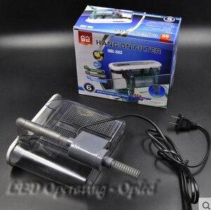 Image 4 - Super 3W caja de filtro de acuario externo bombas de agua de cascada, tablero de esponja de carbono activo de 2 tamaños para bomba de filtro externo de tanque de peces