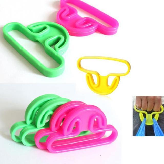 Portable Carrying Tool plastic shopping bag hanger Hooks good helper Hand Bag Lifter
