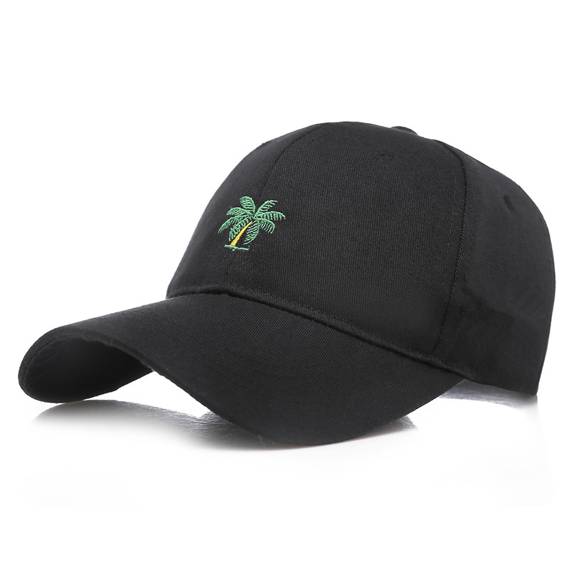 Korean Casual Sunscreen Baseball Cap Men's And Women's Fashion Tree Embroidery Caps 100%cotton Hip Hop Hats Outdoor Golf Hat