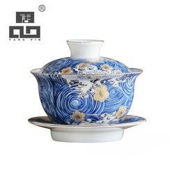 TANGPIN colour enamels ceramic gaiwan teacup handmade porcelain cup chawan chinese kung fu tea set 150ml