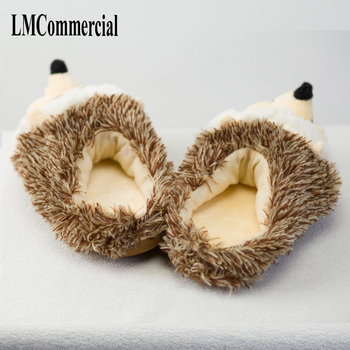 Indoor Slippers Special dog offer custom a warm winter hedgeh lovers home slippers thick hard bottom shoes on floor lovers shoes 5