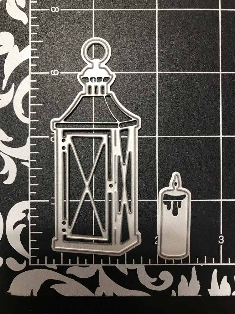 Swovo Candle Light Metal Cutting Dies Christmas Stencils For DIY Scrapbooking Paper Card Decorative Craft Embossing Die Cuts New