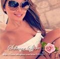 Schever acabado brillante 18 k de oro de gran tamaño gafas de sol para mujer gafas de sol de diseñador de la marca mujeres bluebird dos puntos mujeres gafas de sol