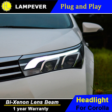 Lampever Styling for Toyota Corolla Headlights 2014 Altis LED Headlight DRL Bi Xenon Lens High Low Beam Parking Fog Lamp