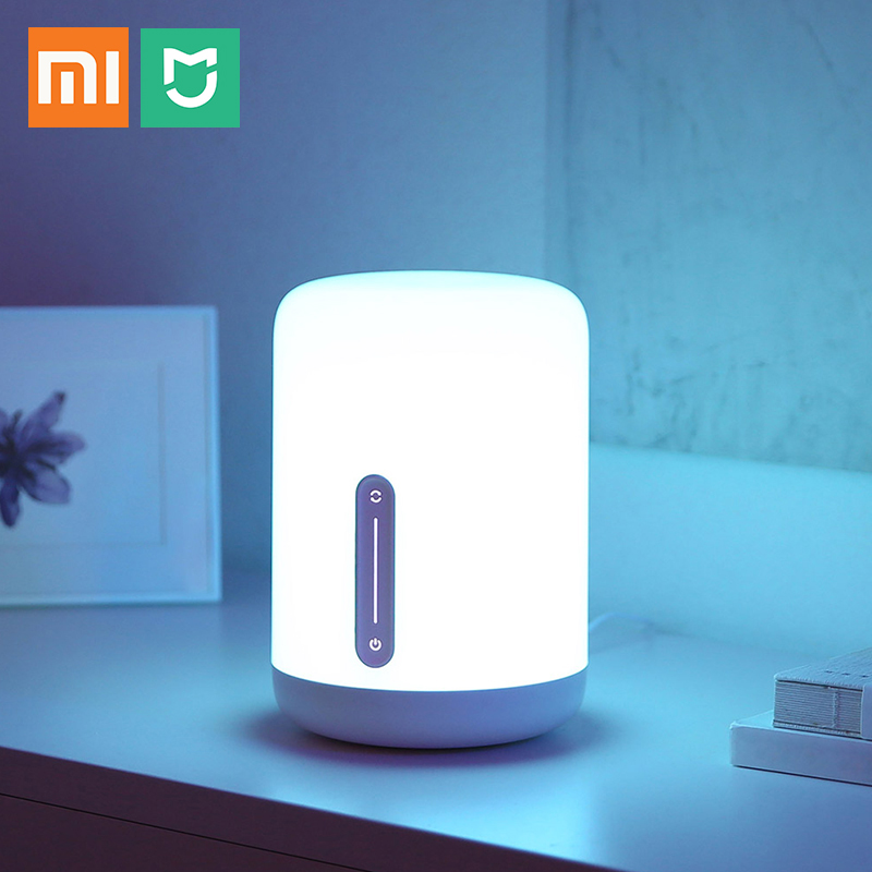New Xiaomi Mijia Bedside Lamp 2 colorful night light Voice Touch Switch control MiHome App Led