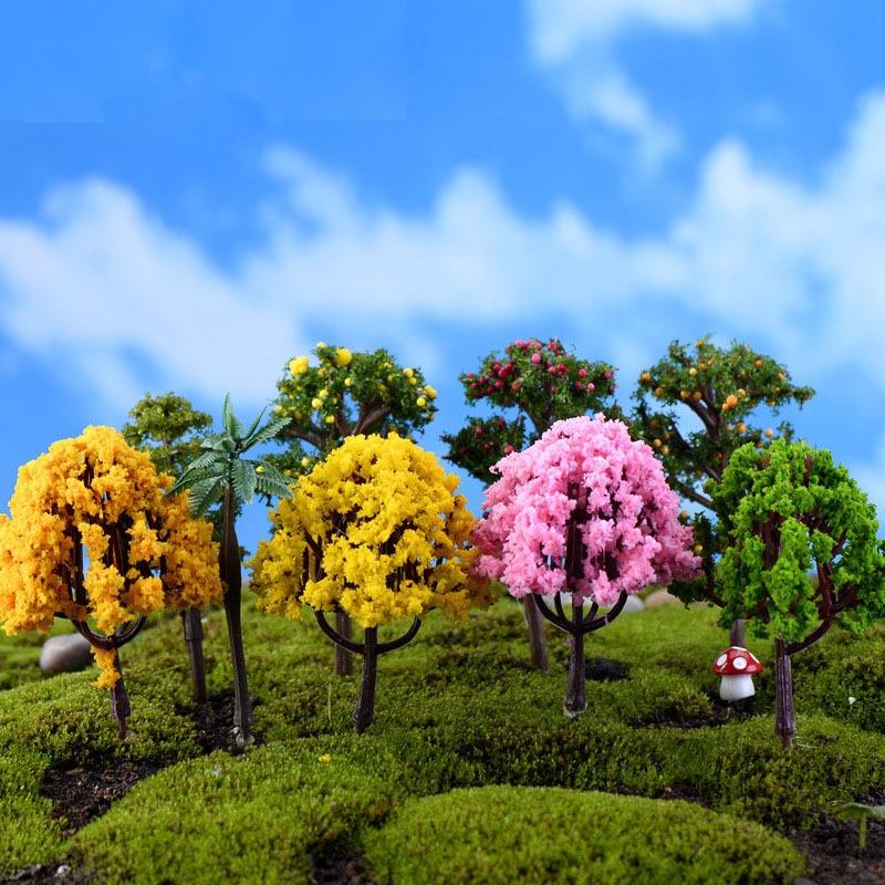 Искусственное фруктовое дерево, миниатюрная сказочная декорация для сада, аксессуары для рукоделия