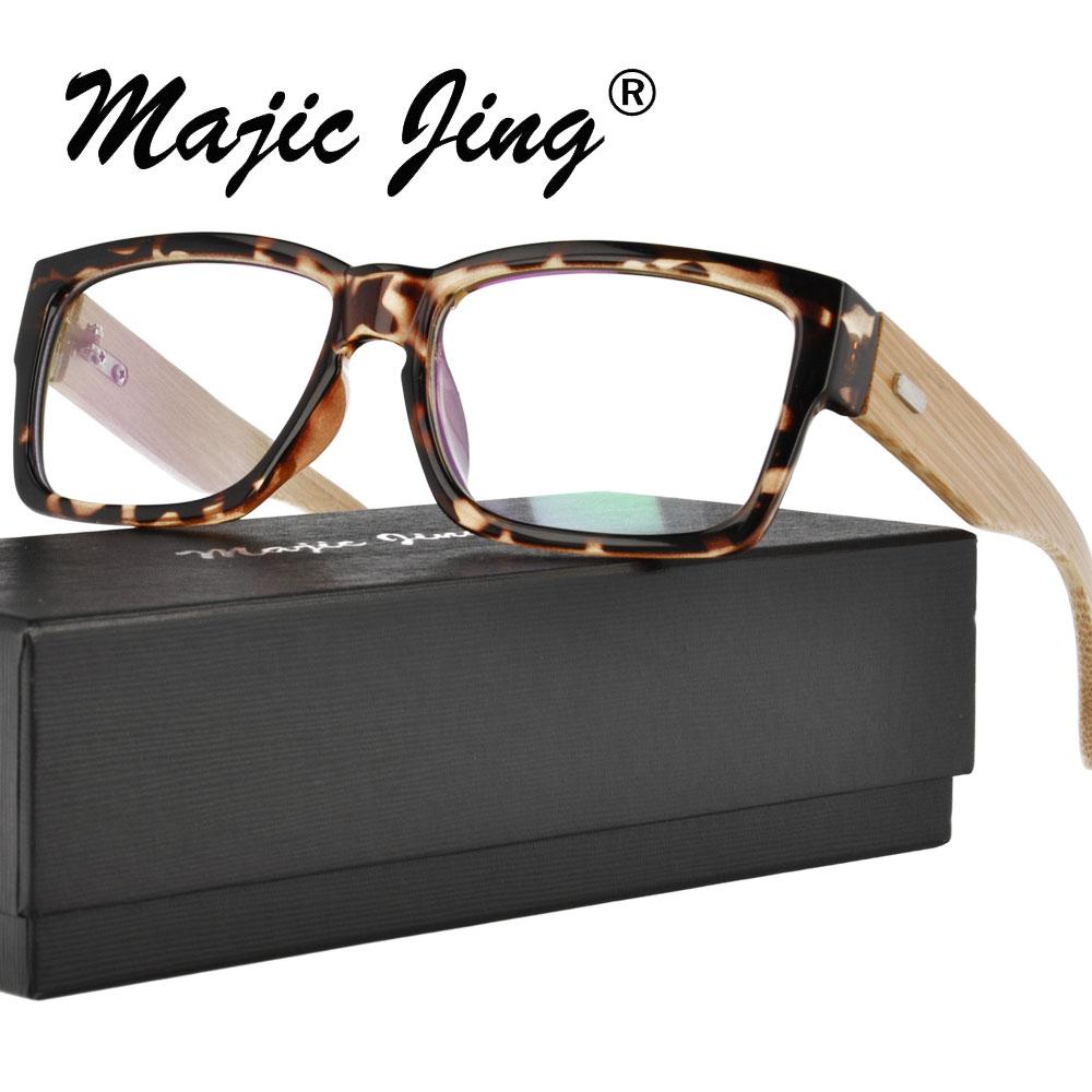 Magic Jing Plastové obdélníkové optické rámečky plné ráfky s brýlemi na bambusový chrám A6823