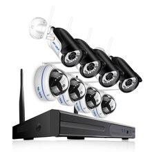 BESDER 8CH tam 1080P WIFI CCTV sistemi 4 açık bullet kamera & 4 kapalı Dome kamera 1080P P2P tak ve çalıştır kablosuz NVR kiti