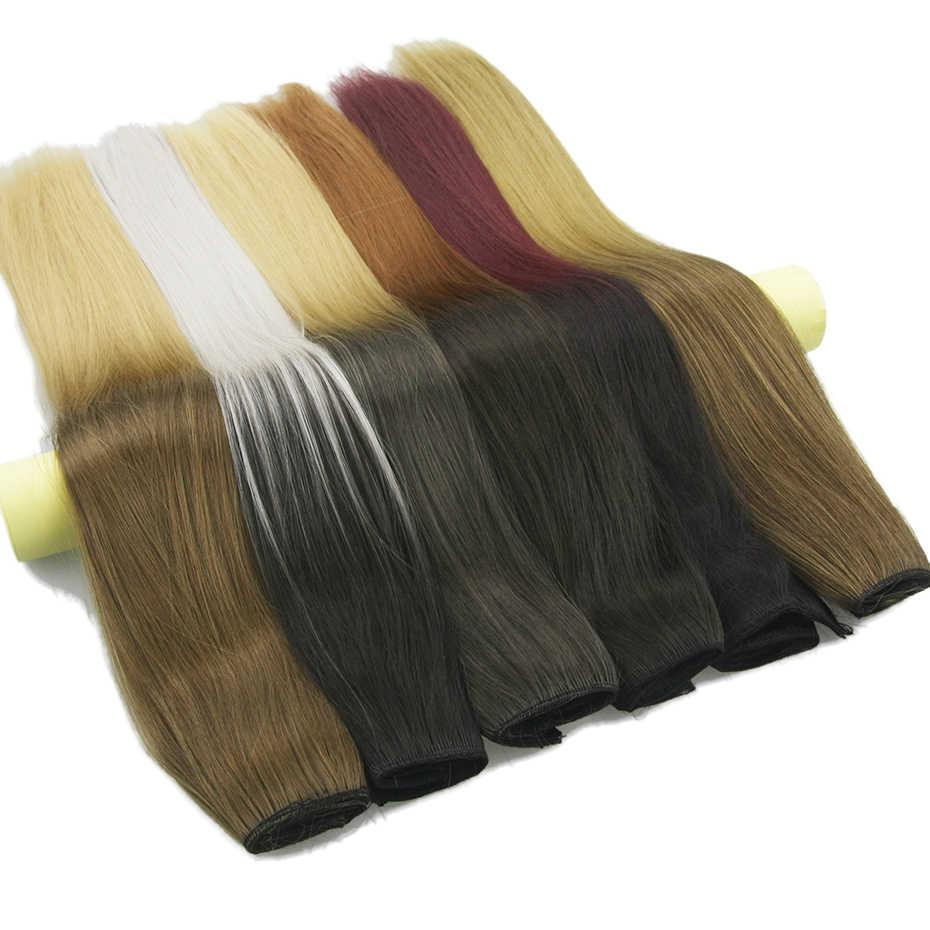 Soowee длинные прямые черные и серые натуральные цвета женские Омбре волосы высокотемпературный синтетический шиньон на зажиме в наращивание волос
