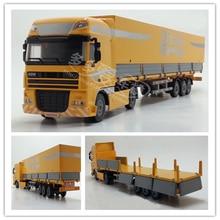 1:50 Сплав Инженерная модель автомобиль грузовик с прицепом-контейнером Рождество год Подарочная коллекция детская игрушка оригинальная коробка