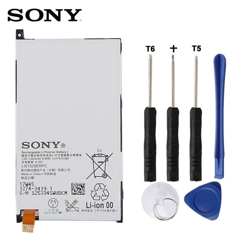 Sony Bateria de Substituição Original Para SONY Xperia Z1 mini Xperia Z1 Compacto D5503 M51w LIS1529ERPC Genuine Bateria Do Telefone 2300 mah