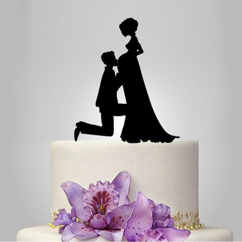 Wedding Cake Topper Love Mr Mrs Acrylic safe Black Toppers Romantic Bride and Groom For Wedding Decoration Party Favors Supplies in Cake Decorating Supplies from Home Garden