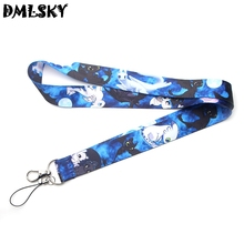 DMLSKY Movie How To Train Your Dragon 3 The Hidden World Animated Cartoon Lanyard Keychain Keys Neck Straps Accessories M3103
