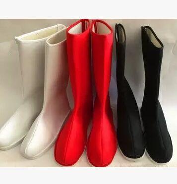 Negro botas de los hombres botas altas para los hombres china antigua botas botas cosplay zapatos guerrero guerrero sun wukong cosplay