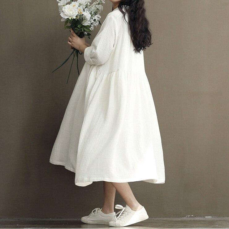 Witte lange jurk grote maat