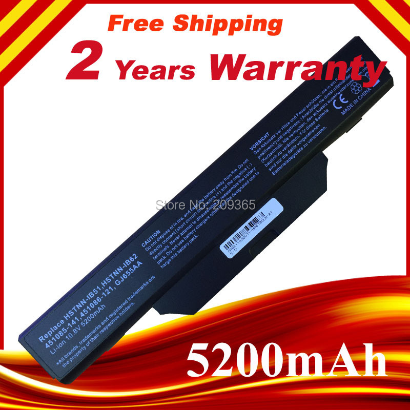 5200mAh Replacement Laptop Battery For HP COMPAQ 510 610 615 6720 6730 6735 6820 6830 S 451086-161 451568-001