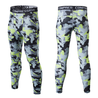 2017 New Outdoor Mens Skin Camouflage Compression Pants Tights Running Camo Layer Fitness Jogging Sport Training Pants 12 Colors