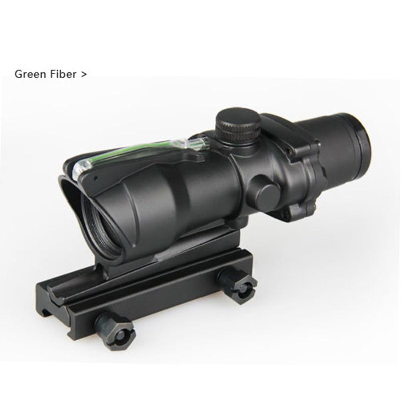 Hot Koop Tactische 4x32 ACOG Stijl Optische Scope Met Groene Vezel - Jacht