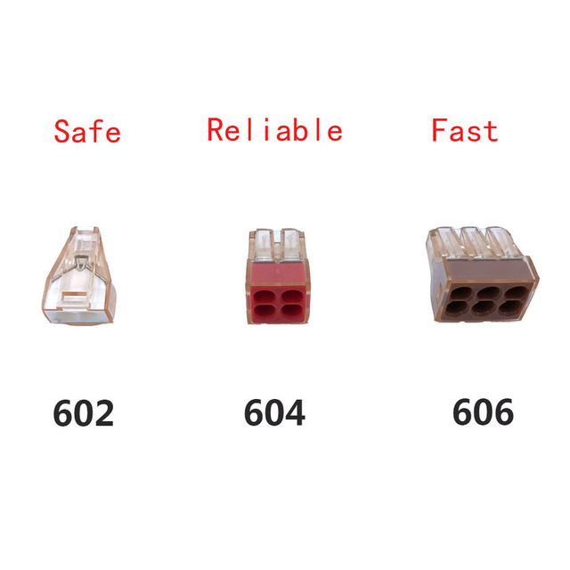 Wago Type Connector 733 Series Hard Wire 10PCS Insert Quick Connect Terminal Block Lighting Accessories China Free Shipping