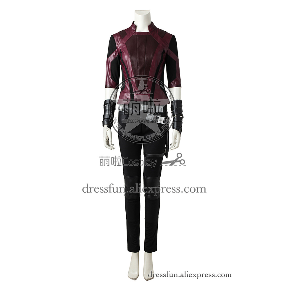 Guardians of the Galaxy Vol. 2 Cosplay Costume Gamora Costume Outfits Uniform Full Set Jacket Halloween Dress Uniform Fast