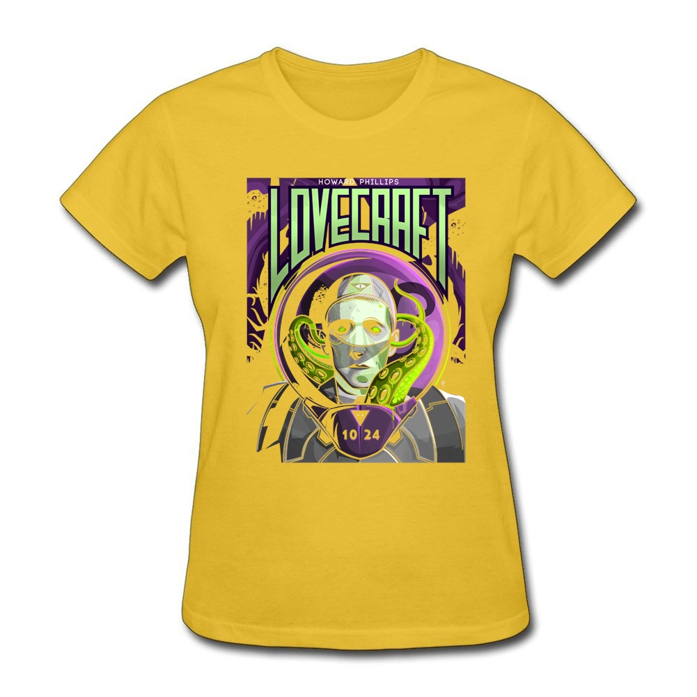 Design your own eco-friendly t-shirt - Professional Manucturer Tees Adult Organic Cotton Lovecraft Crewneck Tees Women Short Sleeves Printed Design Your Own T Shirt